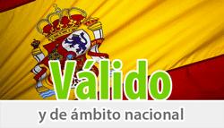 Validez en toda España