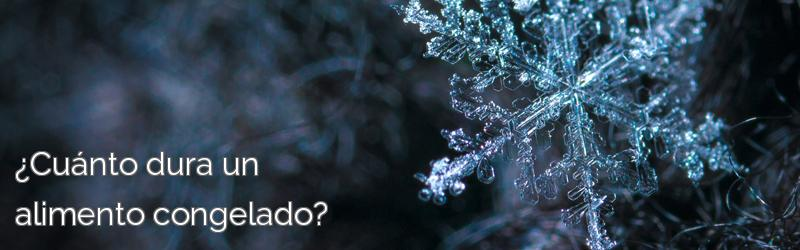 ¿Cuánto dura un alimento congelado?