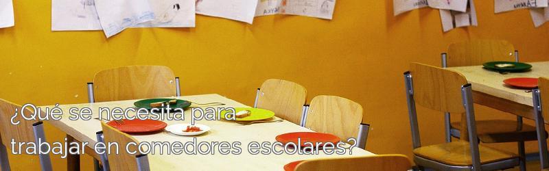 ¿Qué se necesita para trabajar en comedores escolares?